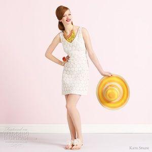 Kate Spade Wedding Belles Floral Applique White 6